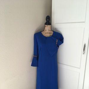 Dennis Basso blue dress size 10